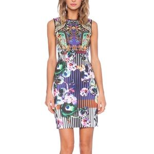 Clover Canyon Printed Bodycon Mini Dress